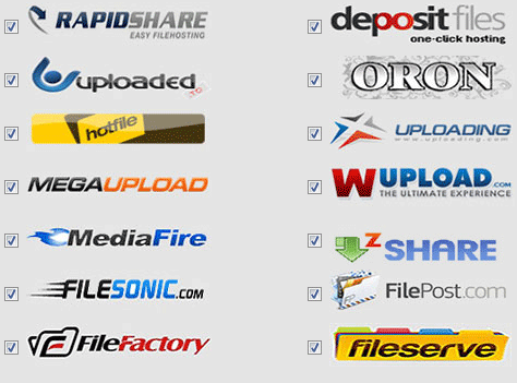 Top 50 Filehosts: 2012 Updated list